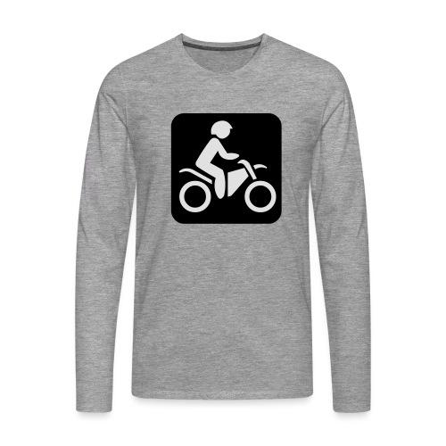 motorcycle - Miesten premium pitkähihainen t-paita