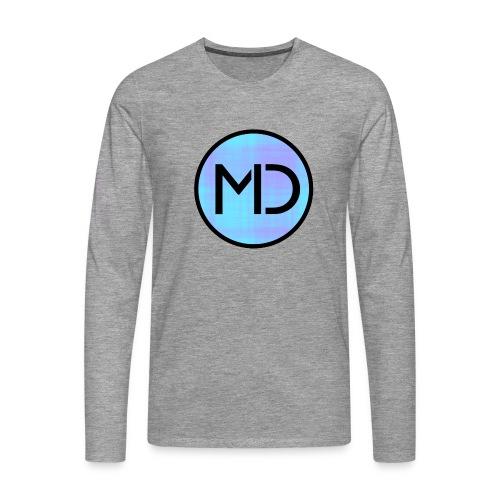 MD Blue Fibre Trans - Men's Premium Longsleeve Shirt