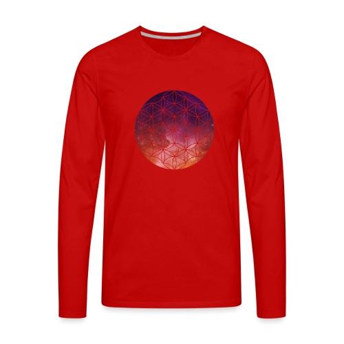 FlowerOfLife Warm - Mannen Premium shirt met lange mouwen
