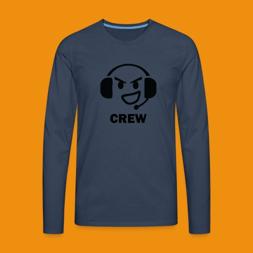T-shirt-front - Herre premium T-shirt med lange ærmer