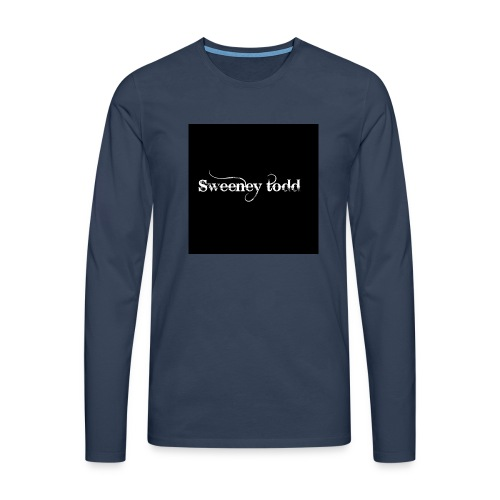 Sweney todd - Herre premium T-shirt med lange ærmer