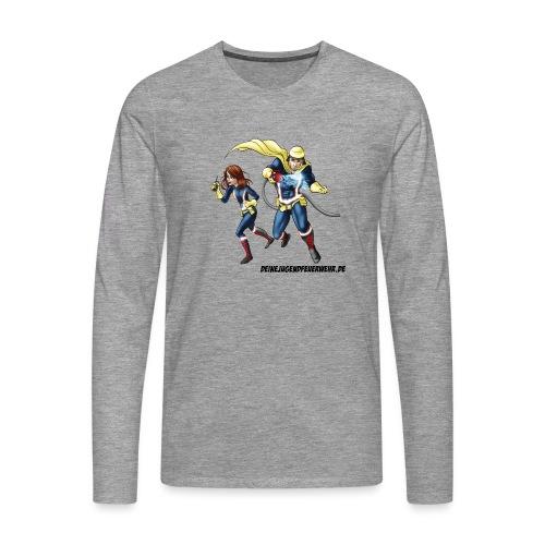 1+1=2Eine gute Connection - Männer Premium Langarmshirt