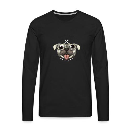 Dog that barks does not bite - Maglietta Premium a manica lunga da uomo