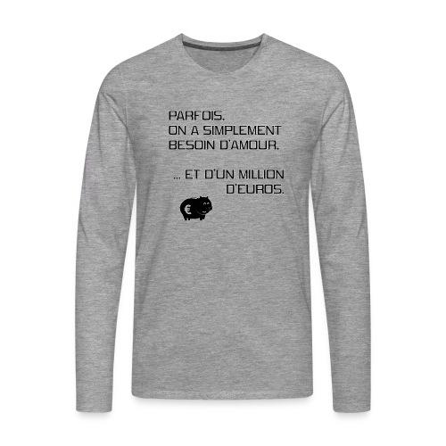 un-million-d'euros - T-shirt manches longues Premium Homme