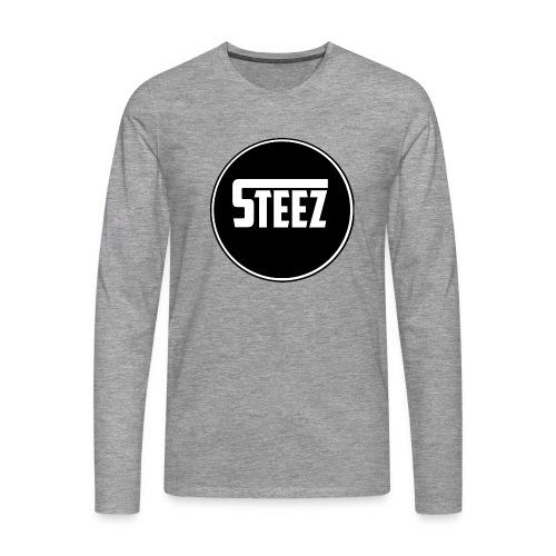 Steez t-Shirt black - Mannen Premium shirt met lange mouwen