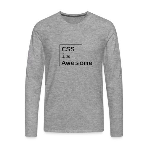 cssawesome - black - Mannen Premium shirt met lange mouwen