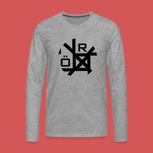 Nörthstat Group™ TecH   iCon - WHT.Knapsack - Men's Premium Longsleeve Shirt
