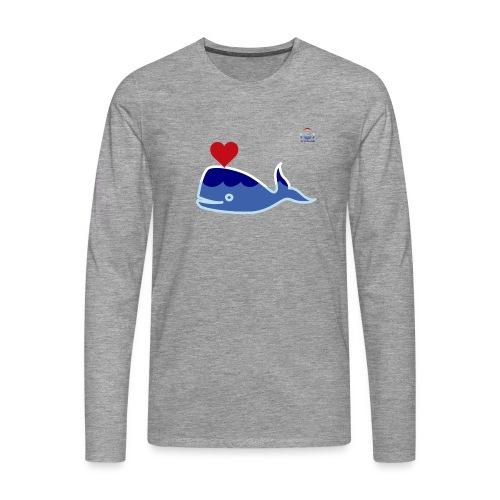 Wale of Love - Camiseta de manga larga premium hombre