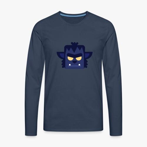Mini Monsters - Lycan - Herre premium T-shirt med lange ærmer