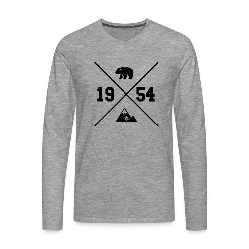 Karhuvuori -baseballhuppari - Miesten premium pitkähihainen t-paita