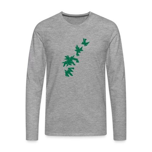 Green Leaves - Männer Premium Langarmshirt