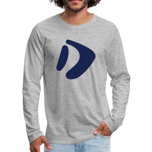 Logo D Blue DomesSport - Männer Premium Langarmshirt