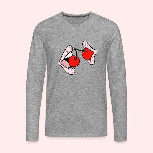 Cherry lips - Männer Premium Langarmshirt