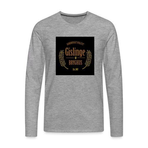 Sort logo 2017 - Herre premium T-shirt med lange ærmer