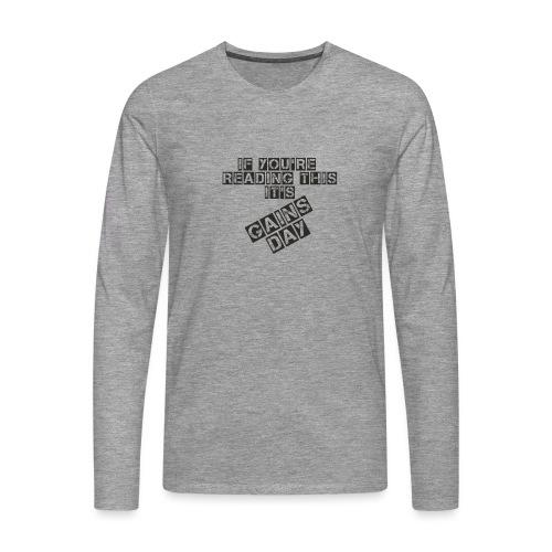 gainsday - Herre premium T-shirt med lange ærmer