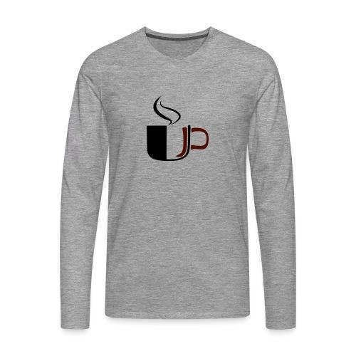 JU Kahvikuppi logo - Miesten premium pitkähihainen t-paita