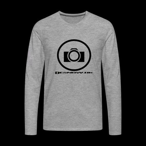 sort2 png - Herre premium T-shirt med lange ærmer