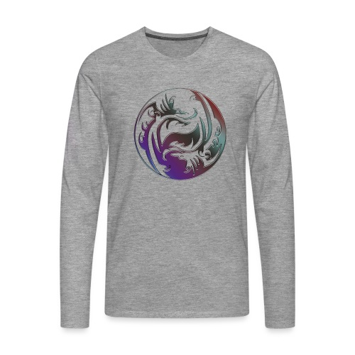 DRAGON Yin & Yang - Männer Premium Langarmshirt