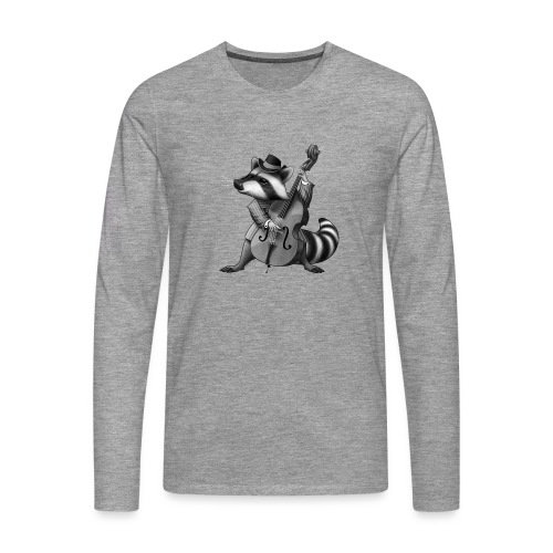 Racoon Musician - Männer Premium Langarmshirt