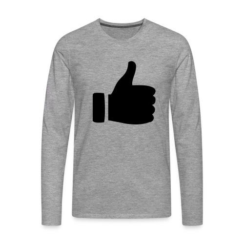 I like - gefällt mir! - Männer Premium Langarmshirt