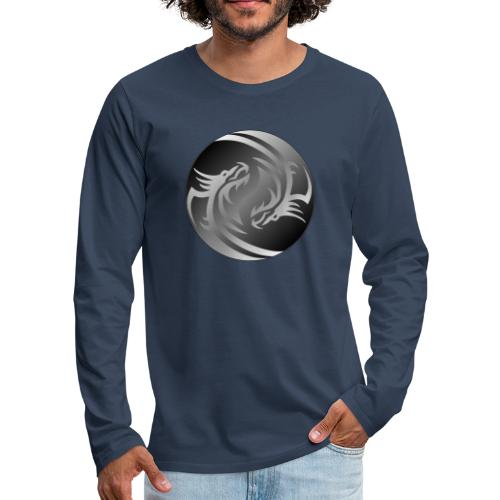 Yin Yang Dragon - Men's Premium Longsleeve Shirt