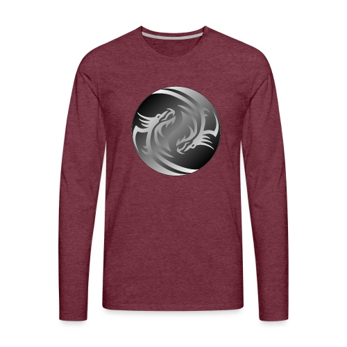 Yin Yang Dragon - Men's Premium Longsleeve Shirt