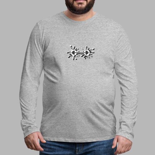 Hantel Splash - Männer Premium Langarmshirt
