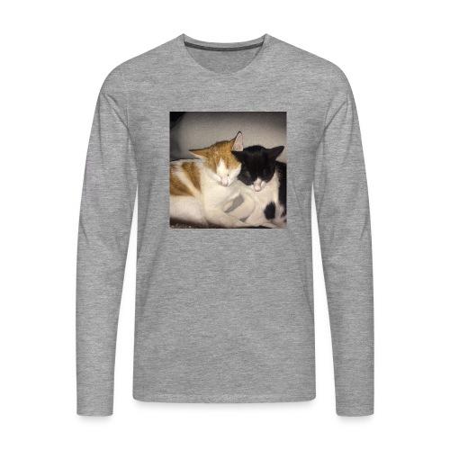 Schlafende Kätzchen - Männer Premium Langarmshirt
