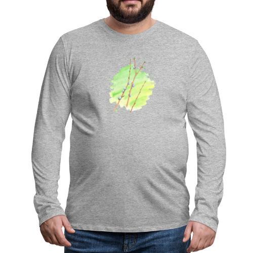 Weidenkätzchen - Männer Premium Langarmshirt