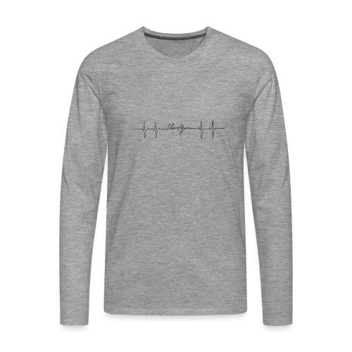 Ik hou van jou hartslag - T-shirt manches longues Premium Homme