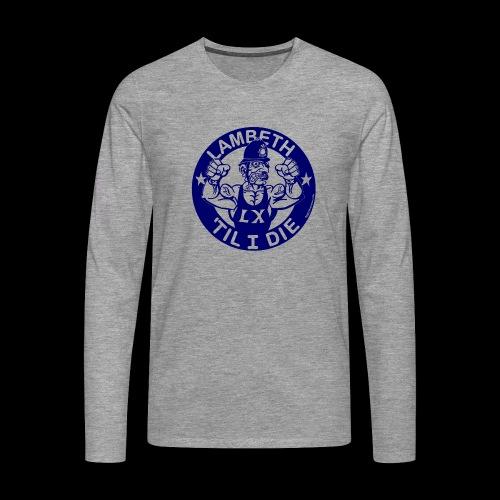 LAMBETH - NAVY BLUE - Men's Premium Longsleeve Shirt