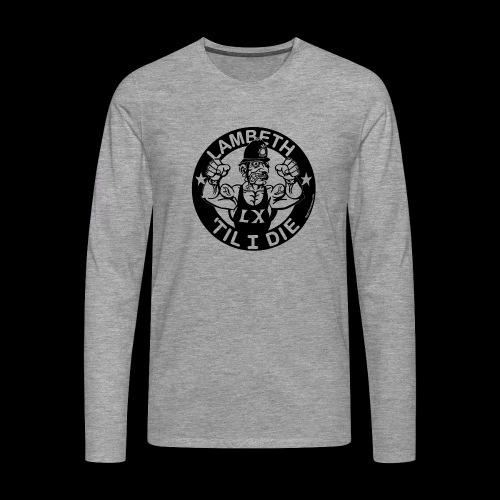 LAMBETH - BLACK - Men's Premium Longsleeve Shirt