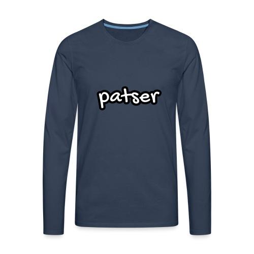 Patser - Basic White - Mannen Premium shirt met lange mouwen