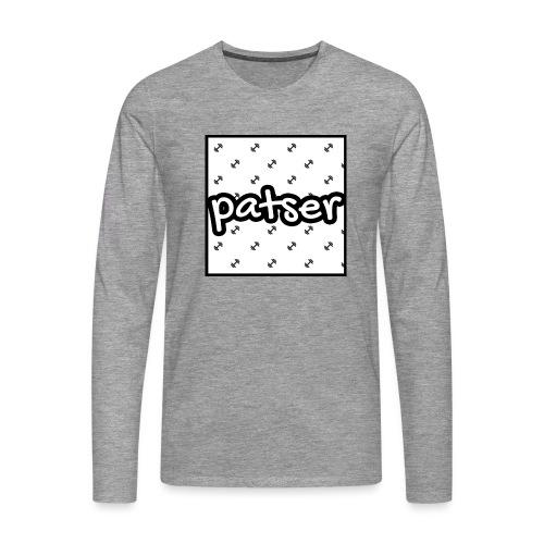 Patser - Basic Print White - Mannen Premium shirt met lange mouwen