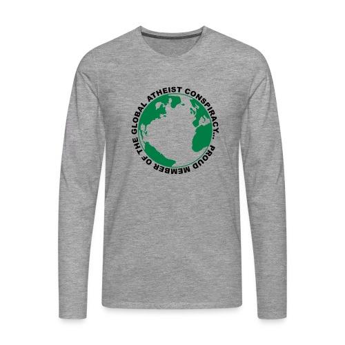 Global Atheist Conspiracy - Men's Premium Longsleeve Shirt
