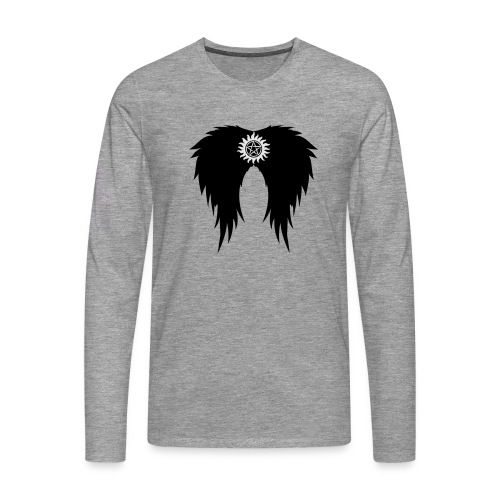 Supernatural wings (vector) Hoodies & Sweatshirts - Men's Premium Longsleeve Shirt