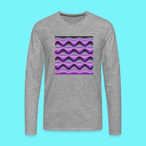 Sine waves in red and blue - Men's Premium Longsleeve Shirt