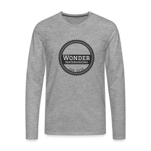 Wonder Longsleeve - round logo - Herre premium T-shirt med lange ærmer