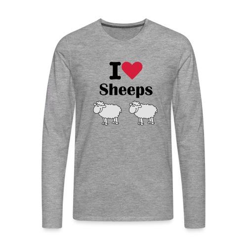 I-love-sheeps - T-shirt manches longues Premium Homme