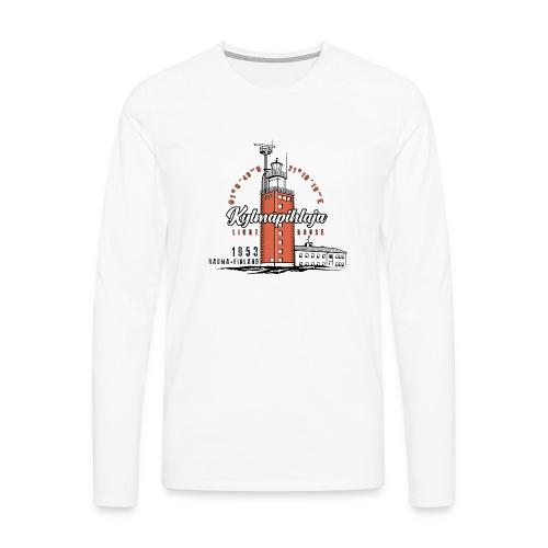 Finnish Lighthouse KYLMÄPIHLAJA Textiles, and Gift - Miesten premium pitkähihainen t-paita