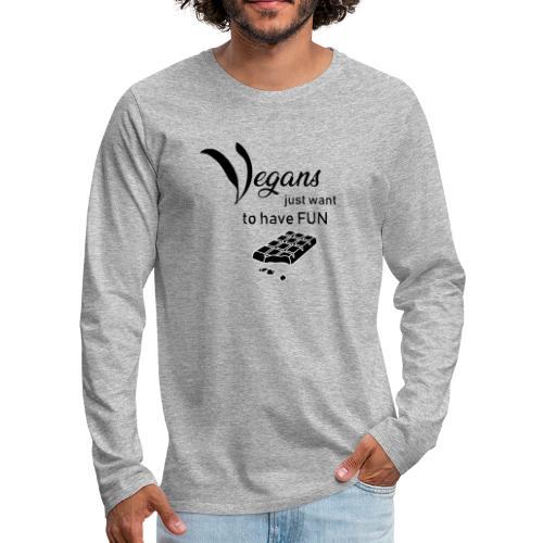 Vegans just want to have fun - tinte chiare - Maglietta Premium a manica lunga da uomo