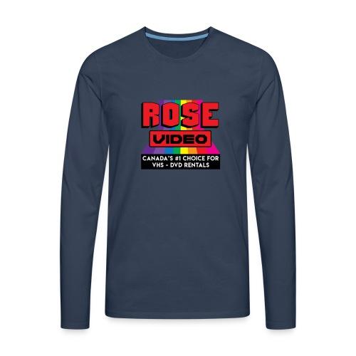 rose video logo - Maglietta Premium a manica lunga da uomo