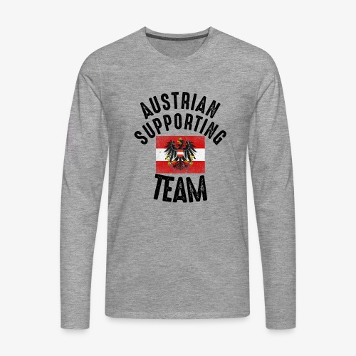 austria fussball team - Männer Premium Langarmshirt