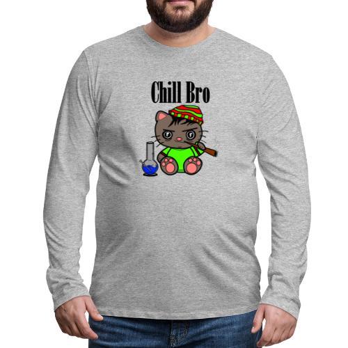 Chill Bro Katze - Männer Premium Langarmshirt