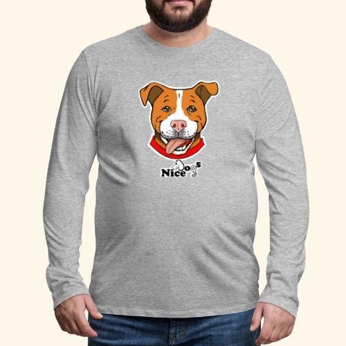 pitbull2 - Maglietta Premium a manica lunga da uomo