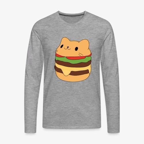 cat burger - Men's Premium Longsleeve Shirt