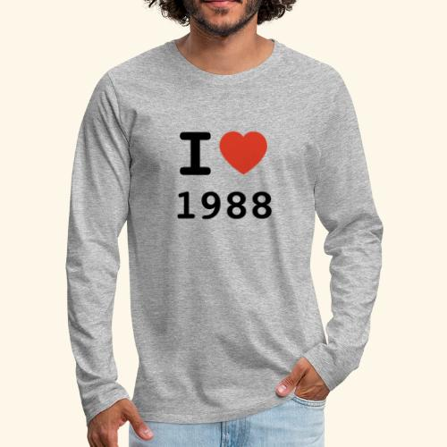 I Love 88 b 001 - Männer Premium Langarmshirt