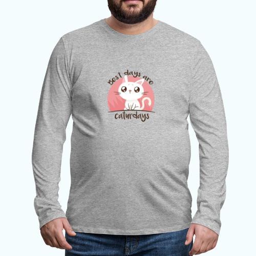 Saturdays - NO - Caturdays - Men's Premium Longsleeve Shirt