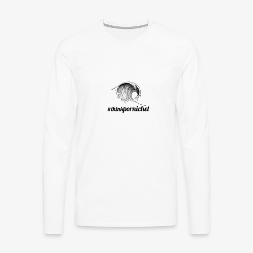 Vague Wave Thinkpornichet by DesignTouch - T-shirt manches longues Premium Homme
