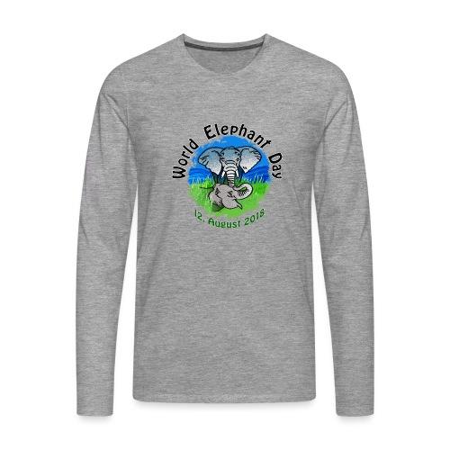 World Elephant Day 2018 - Männer Premium Langarmshirt